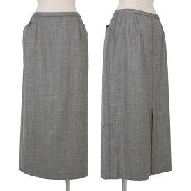 レリアンLeilian ウールポケットデザインスカート グレー17【中古】 【レディース】
