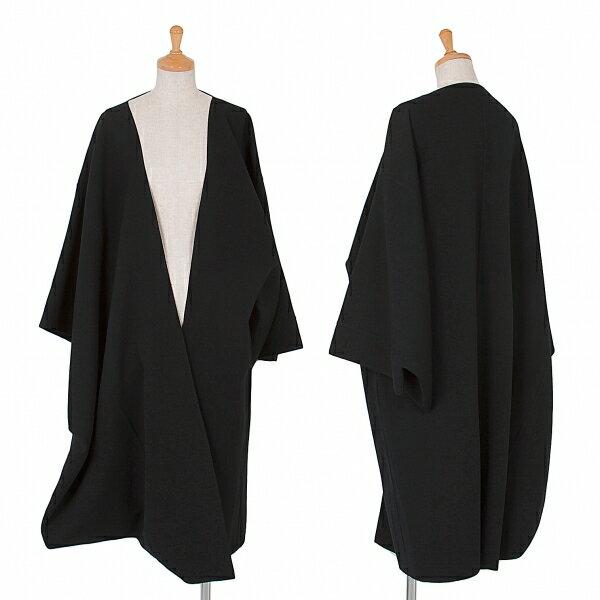ヨウジヤマモト ファムYohji Yamamoto FEMME ウール着物コート 黒S【中古】【レディース】