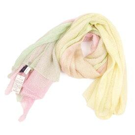 【BIG SALE】フィルダレニエFil Daraignee モヘヤナイロンストール 黄緑ピンク