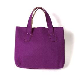 【SALE】ワイズY's 裏ヌメ革ウールトートバッグ 紫ベージュ【中古】 【レディース】