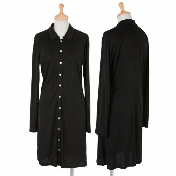 アツロウタヤマATSURO TAYAMA ダーツデザインラグランロングシャツ 黒M位【中古】
