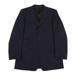 【SALE】ポールスミスPaul Smith LONDON ウインドウチェックウールジャケット黒紺L【中古】 【メンズ】