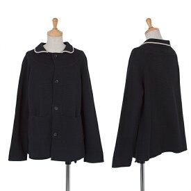 ワイズY's コットンウールラグランニットジャケット 紺2【中古】 【レディース】