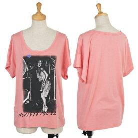 【SALE】ポールスミスプラスPaul+ フォトプリントTシャツ ピンクM【中古】 【レディース】