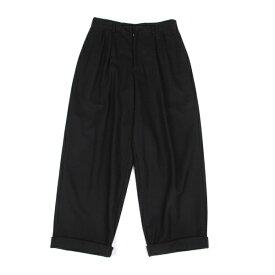【SALE】ワイズY's ウール裾ダブルワイドパンツ 黒M位【中古】 【レディース】