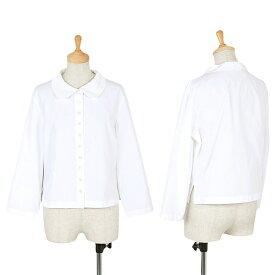 【SALE】セリーヌCELINE ラウンドカラーシャツ 白40【中古】 【レディース】