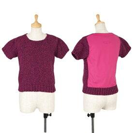 【SALE】ジャンポールゴルチエファムJean Paul GAULTIER FEMME バック切替ニットTシャツ 紫ピンク40【中古】 【レディース】