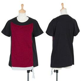 リスマット バイ ワイズRISMAT by Y's ニットペーストデザインTシャツ 黒赤シルバー1【中古】 【レディース】