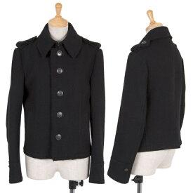 ワイズY's ウール切りっぱなしナポレオンジャケット 黒1【中古】 【レディース】