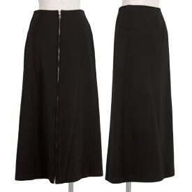 ワイズY's ウールフロントririジップスカート 黒2【中古】 【レディース】