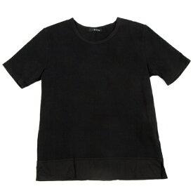 ワイズフォーリビングY's for living 裾切替Tシャツ 黒M位【中古】 【レディース】