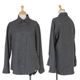ワイズY's ウールフラワープリントシャツ 杢グレー3【中古】 【レディース】