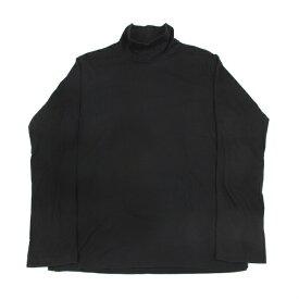 ヨウジヤマモトプールオムYohji Yamamoto POUR HOMME サイドタグハイネック長袖Tシャツ 黒4【中古】 【メンズ】