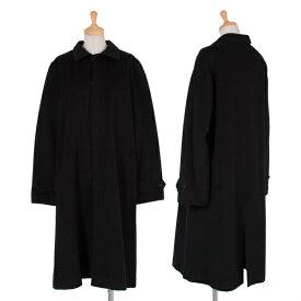 ワイズY's カシミヤ混起毛ウール比翼コート 黒3【中古】 【レディース】