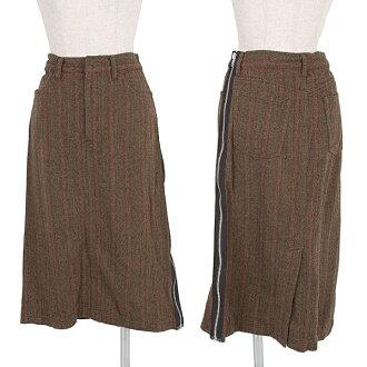 トリココムデギャルソン tricot COMME des GARCONS side zip herringbone skirt khaki brick other S