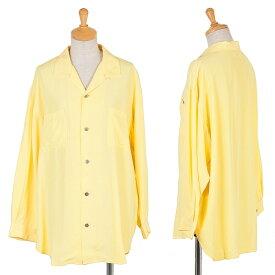 ワイズY's オープンカラーレーヨンシャツ 黄M位【中古】 【レディース】
