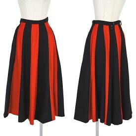 ワイズY's ウールナイロンバイカラーゴアードスカート 赤黒M位【中古】 【レディース】