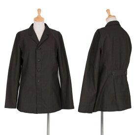 ワイズY's ノッチドラペル4Bポリシャツジャケット 濃カーキM【中古】 【レディース】
