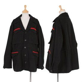 ワイズY's ウールラインジャケット 黒赤M位【中古】 【レディース】