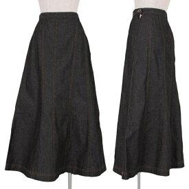 トリコ コムデギャルソンtricot COMME des GARCONS デニム切替スカート 黒M【中古】 【レディース】