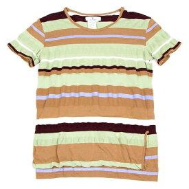 ワイズY's マルチボーダーTシャツ ベージュ茶グリーン他3【中古】 【レディース】