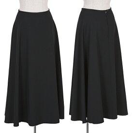 ワイズY's ウールシルクフレアスカート 黒M位【中古】 【レディース】