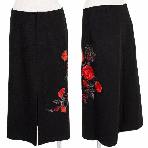 ヴィヴィアンタムVIVIENNETAM フラワー刺繍ウールスカート 黒赤グレー他1【中古】 【レディース】