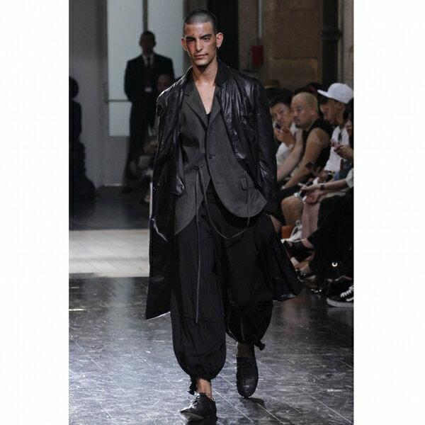 ヨウジヤマモト プールオムYohji Yamamoto POUR HOMME レーヨン裾絞りパンツ 黒2【中古】【メンズ】