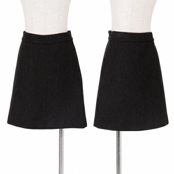 プラダPRADA ミニスカート 杢黒42【中古】
