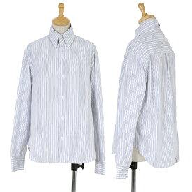 ワイズY's 高襟ストライプボタンダウンシャツ 白黒青他4【中古】 【レディース】