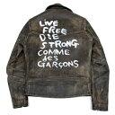 コムデギャルソン×ルイスレザーCOMME des GARCONS×Lewis Leathers ライトニング 青山限定 ライダースジャケット 黒…