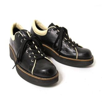 怀斯Y's平台管道皮革鞋黑5(24.5位)