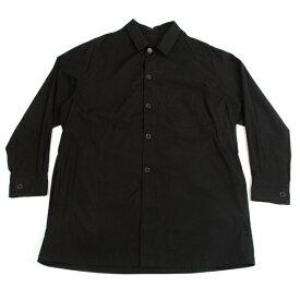 ヨウジヤマモト プールオムYohji Yamamoto POUR HOMME コットンブロードビッグシルエットシャツ 黒1【中古】 【メンズ】