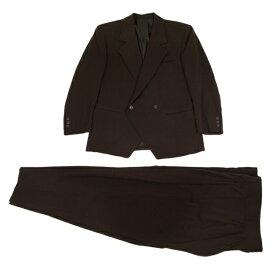 イッセイミヤケ メンISSEY MIYAKE MEN ギャザーデザインセットアップスーツ 濃茶M/ XL【中古】 【メンズ】