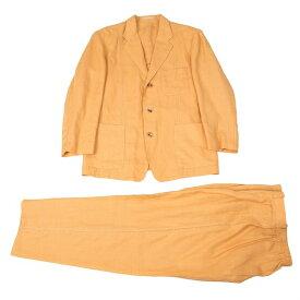 イッセイミヤケ メンISSEY MIYAKE MEN パンチングリネンセットアップスーツ オレンジM/ L位【中古】 【メンズ】