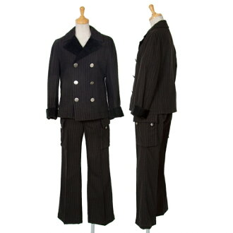 tricot COMME des GARCONS Velvet Switching Striped Jacket & Pants