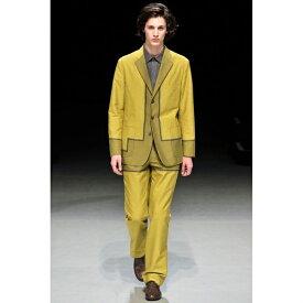 イッセイミヤケ メン エーポックISSEY MIYAKE MEN A-POC 織り切替デザイン3Bセットアップスーツ 黒チャコール2【中古】 【メンズ】