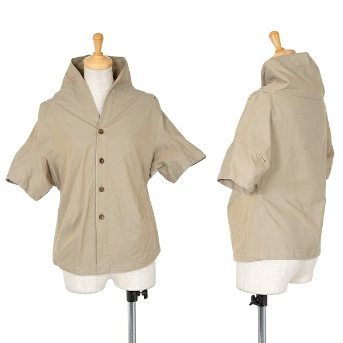 トリココムデギャルソンtricot COMME des GARCONS 半袖デザインシャツ サンドベージュM【中古】 【レディース】