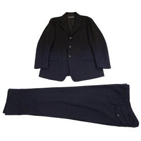 イッセイミヤケ メンISSEY MIYAKE MEN 染めフラノウール3Bセットアップスーツ 黒紺3【中古】 【メンズ】