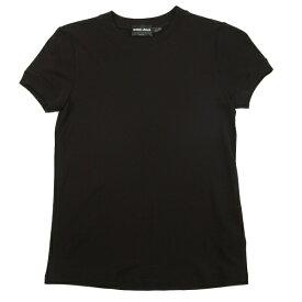 ジョルジオ アルマーニGIORGIO ARMANI レーヨンナイロン半袖Tシャツ 黒I40【中古】 【レディース】