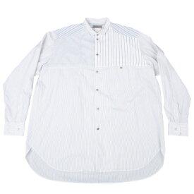 ヨウジヤマモト プールオムYohji Yamamoto POUR HOMME ストライプ切替デザインシャツ オフグレーM【中古】 【メンズ】