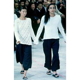 ヨウジヤマモト プールオムYohji Yamamoto POUR HOMME ウールギャバ裾絞りワイドパンツ 黒M【中古】 【メンズ】
