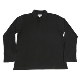 ヨウジヤマモト プールオムYohji Yamamoto POUR HOMME ネックマチデザインポロシャツ 黒3【中古】 【メンズ】