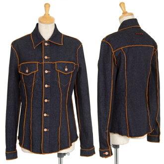 Jean-Paul GAULTIER Stretch Denim Long Sleeve Shirt