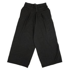 ズッカzucca ウールギャバ切替変形ワイドパンツ 黒M【中古】 【レディース】