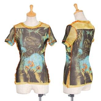 Jean-Paul GAULTIER FEMME Printed Net T Shirt