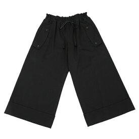 ワイズY's ウールギャバ裾ダブルワイドパンツ 黒1【中古】 【レディース】