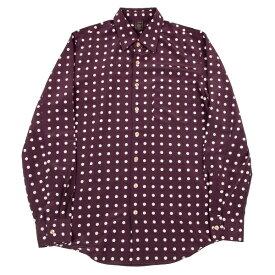 ジャンポールゴルチエ クラシックJean Paul GAULTIER CLASSIQUE ポリポルカドットプリントシャツ 紫48【中古】 【メンズ】