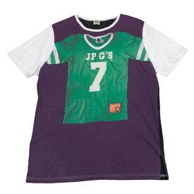 ジャンポールゴルチエJean Paul GAULTIER PARIS フットボールシャツ転写プリントTシャツ 紫緑48【中古】 【メンズ】