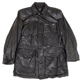 ジャンポールゴルチエ オムJean Paul GAULTIER HOMME カウレザーマルチポケットジャケット 黒50【中古】 【メンズ】